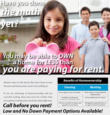 Why Rent? Buy and Start Building Equity Today!