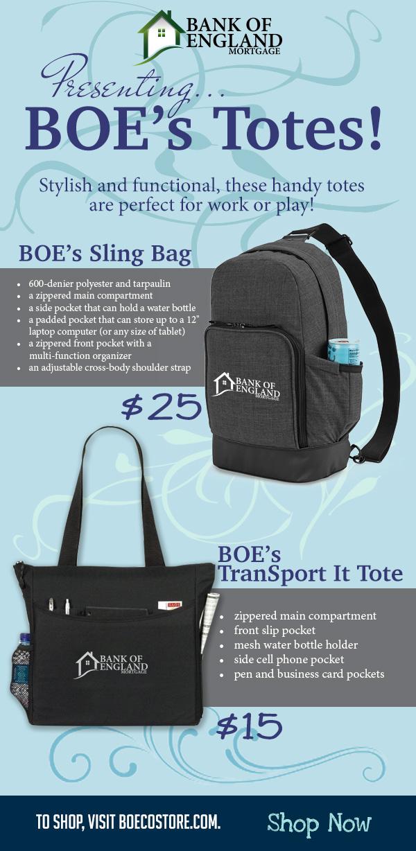 Eblast - Presenting BOE Totes