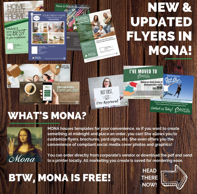New and Updated Flyers in Mona!