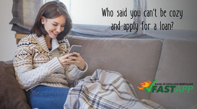 Who said you can't be cozy and apply for a loan?