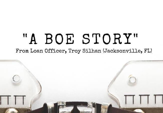 A BOE Story from Loan Officer Gregory Ward - Tempe, Arizona